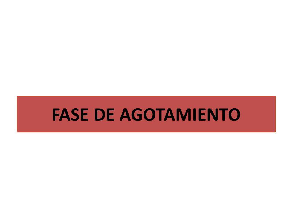 FASE DE AGOTAMIENTO