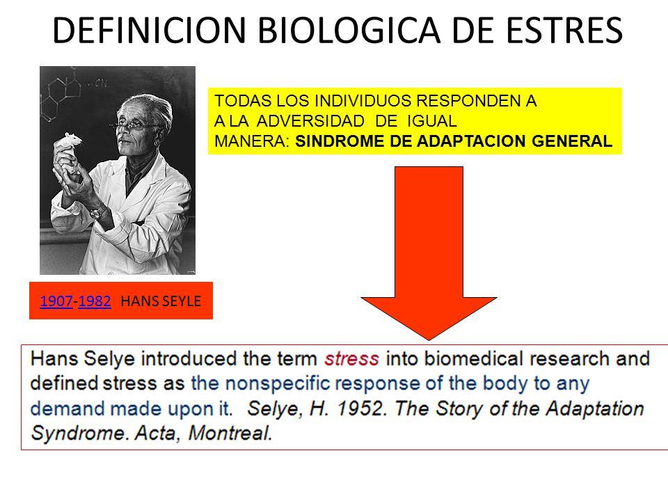 DEFINICION BIOLOGICA DE ESTRES