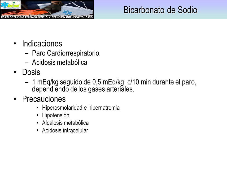 Bicarbonato de Sodio Indicaciones Dosis Precauciones