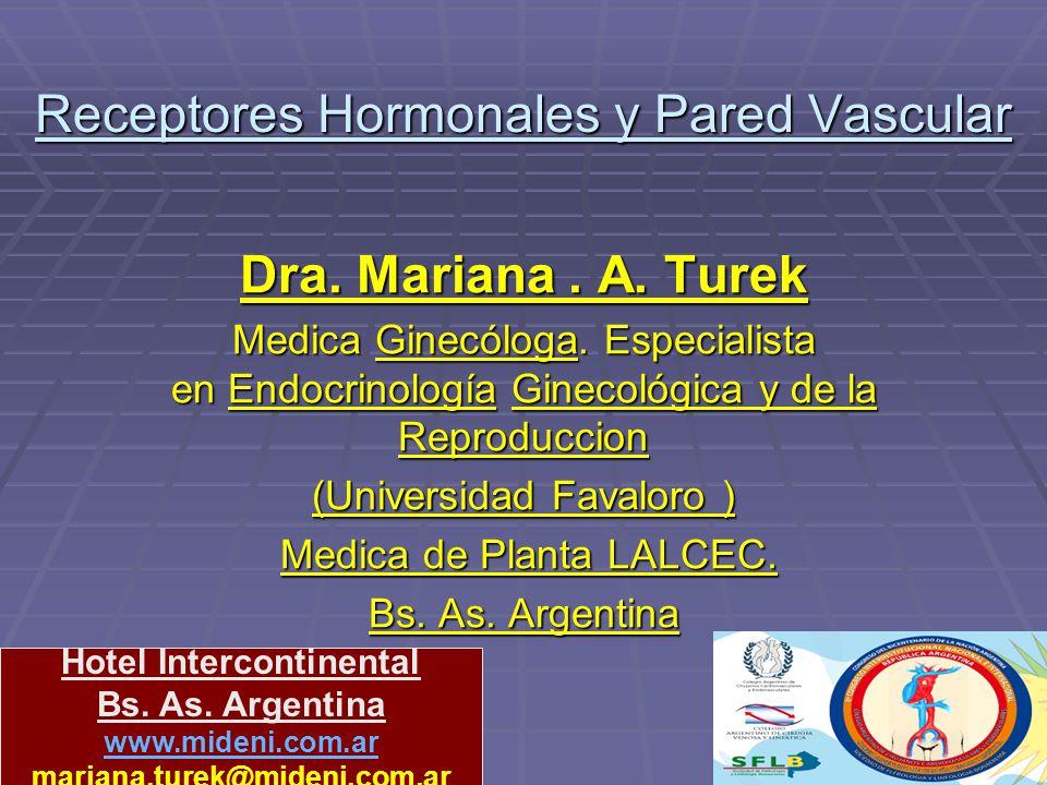 Receptores Hormonales y Pared Vascular