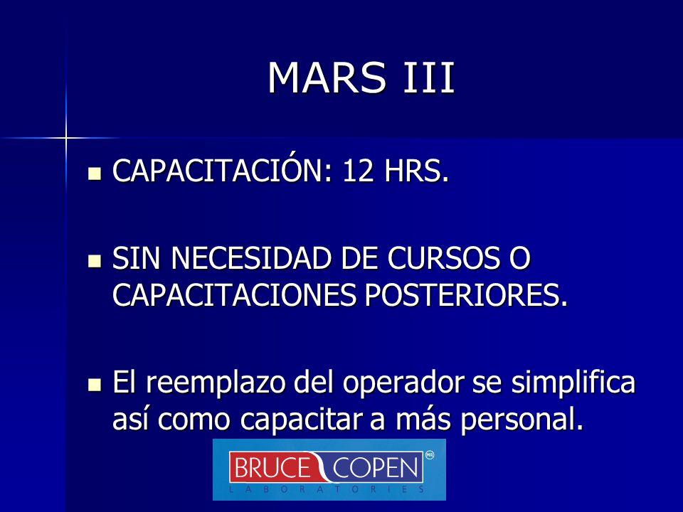 MARS III CAPACITACIÓN: 12 HRS.