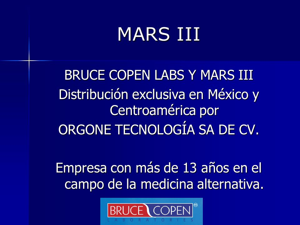 MARS III BRUCE COPEN LABS Y MARS III