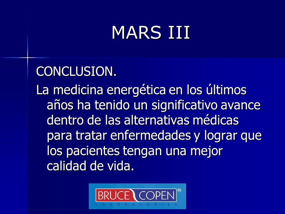 MARS III CONCLUSION.