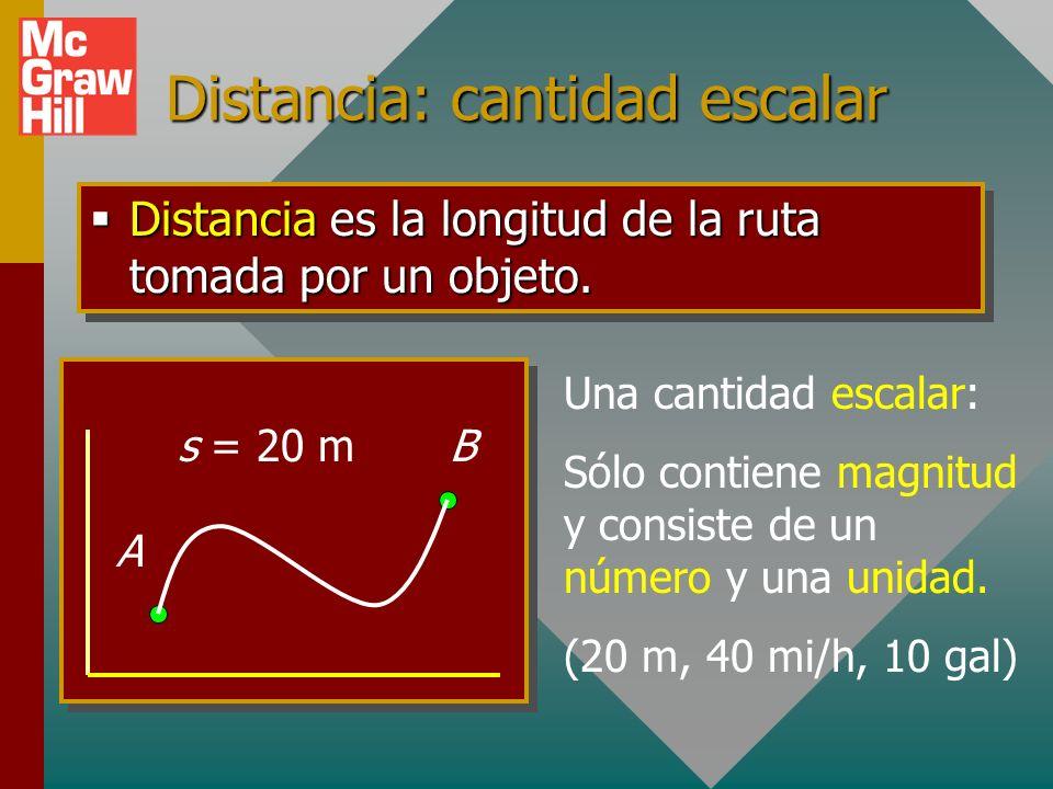 Distancia: cantidad escalar