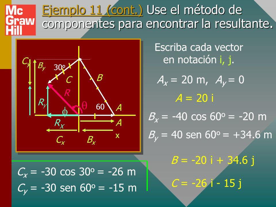 Escriba cada vector en notación i, j.