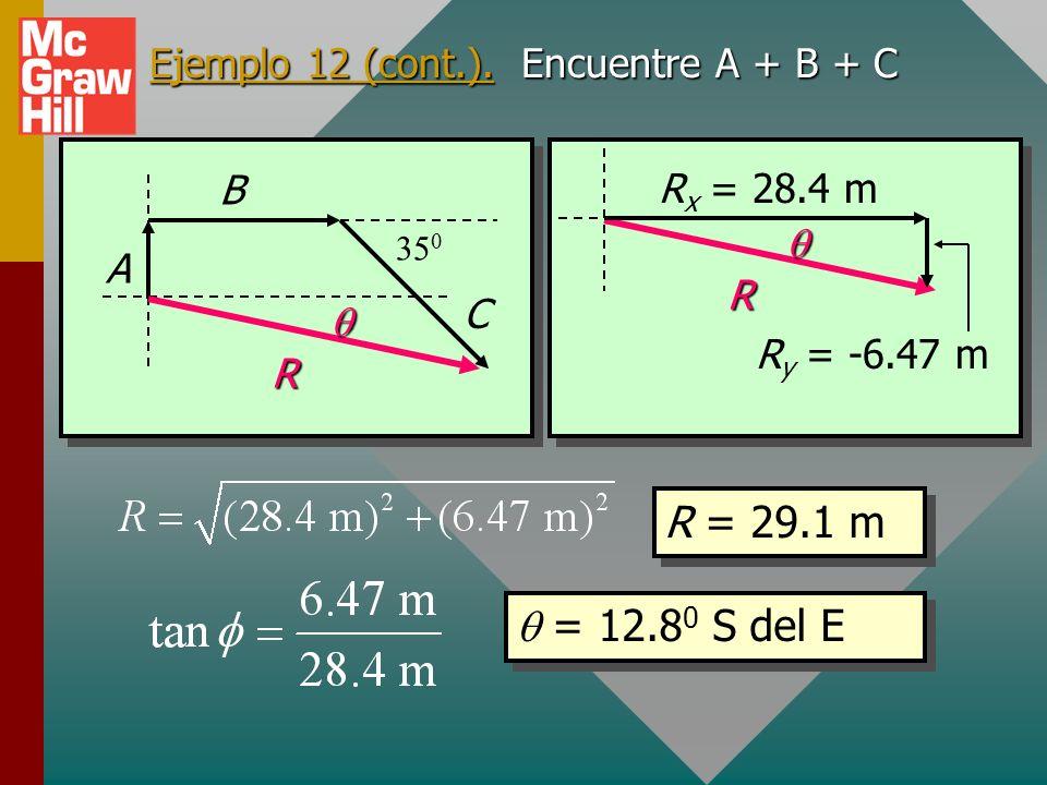 Ejemplo 12 (cont.). Encuentre A + B + C