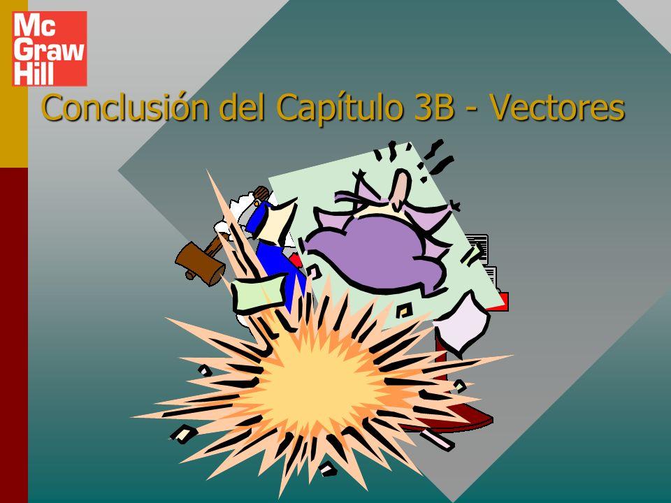 Conclusión del Capítulo 3B - Vectores
