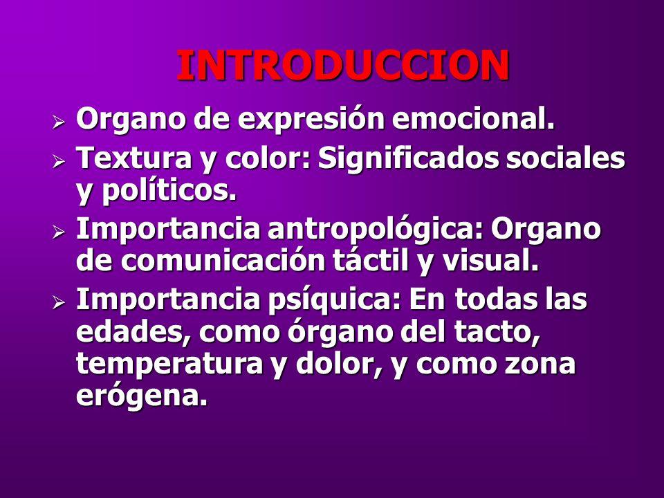 INTRODUCCION Organo de expresión emocional.