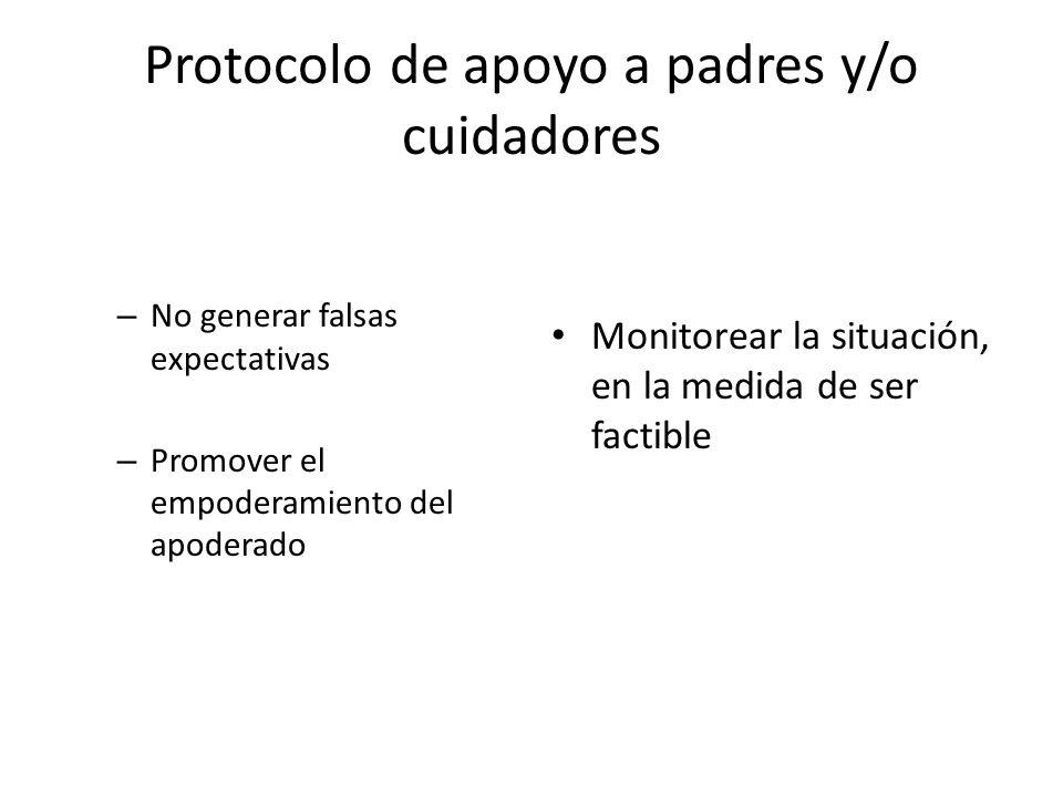 Protocolo de apoyo a padres y/o cuidadores