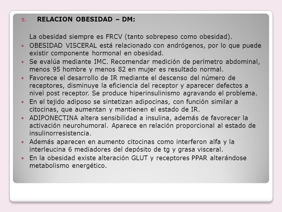 RELACION OBESIDAD – DM: