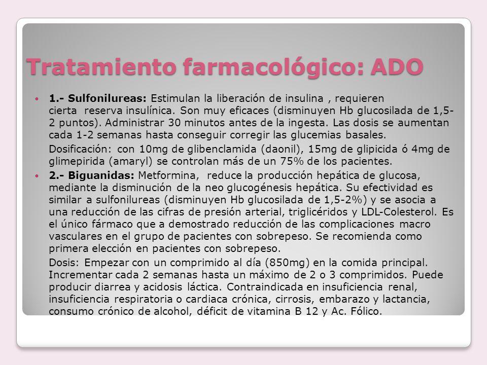 Tratamiento farmacológico: ADO