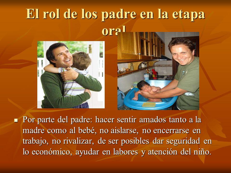 El rol de los padre en la etapa oral.