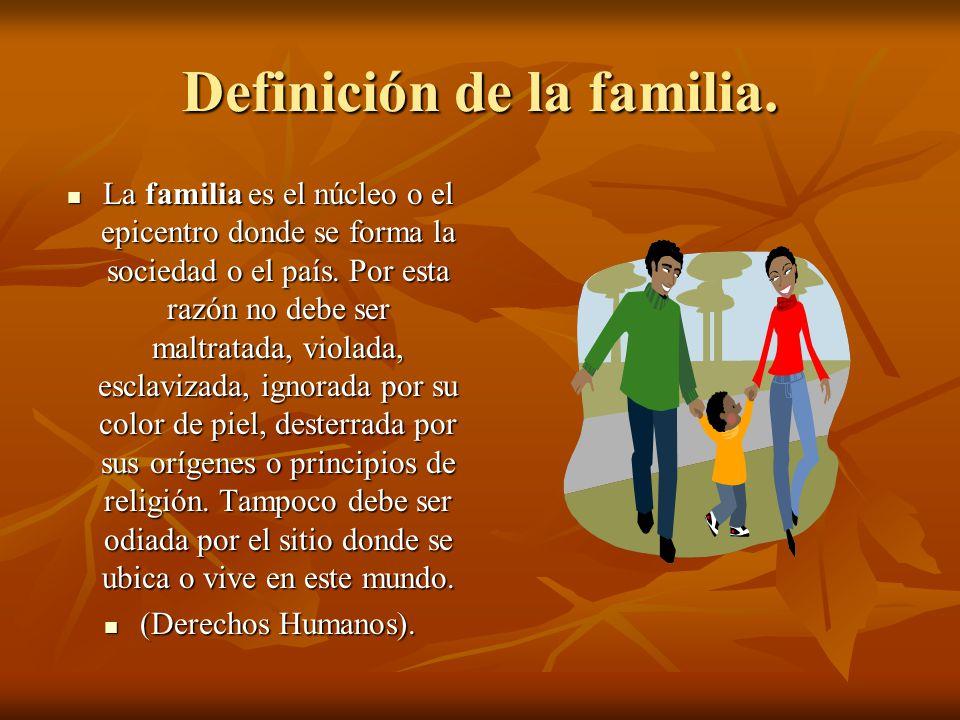 Definición de la familia.