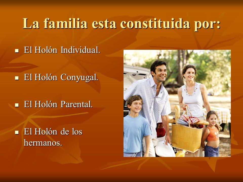 La familia esta constituida por: