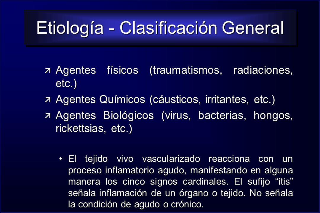 Etiología - Clasificación General
