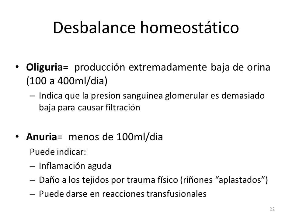 Desbalance homeostático