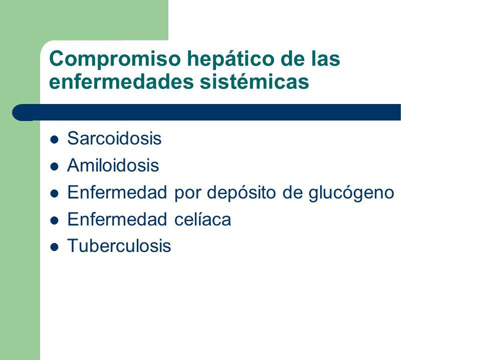 Compromiso hepático de las enfermedades sistémicas
