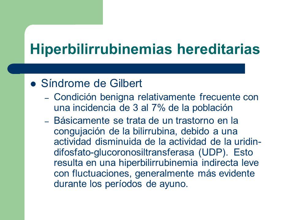 Hiperbilirrubinemias hereditarias