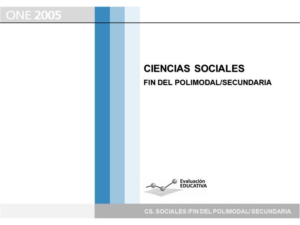 CIENCIAS SOCIALES FIN DEL POLIMODAL/SECUNDARIA