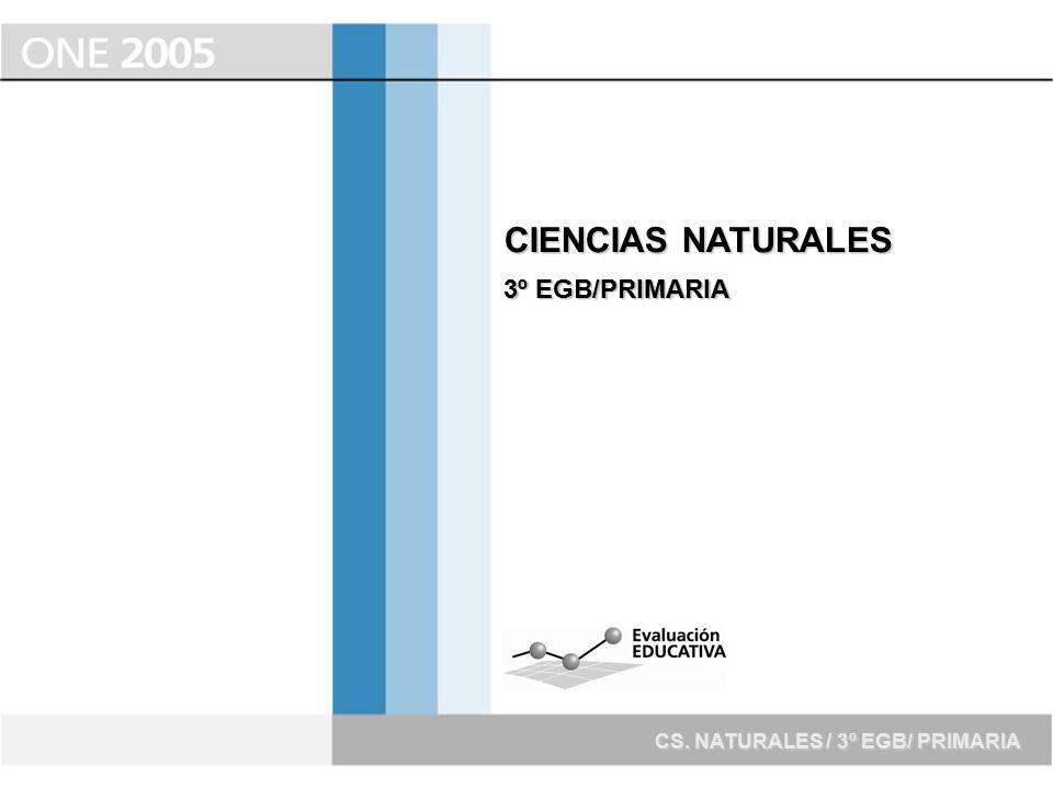 CIENCIAS NATURALES 3º EGB/PRIMARIA CS. NATURALES / 3º EGB/ PRIMARIA