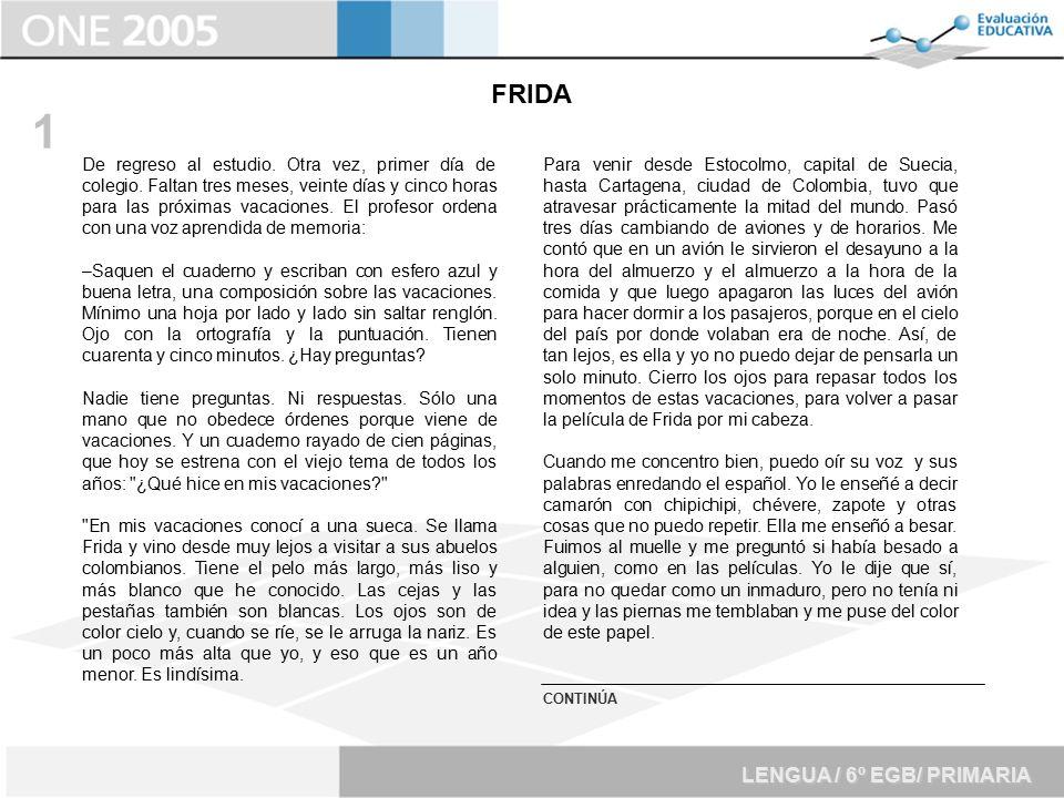 1 FRIDA LENGUA / 6º EGB/ PRIMARIA
