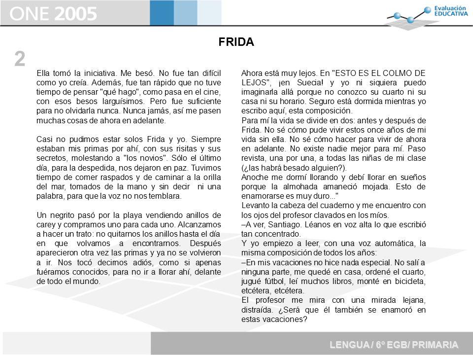 2 FRIDA LENGUA / 6º EGB/ PRIMARIA