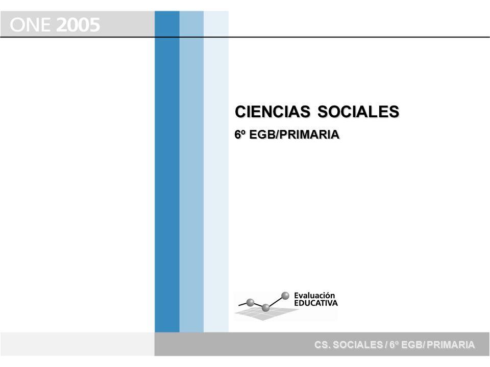 CIENCIAS SOCIALES 6º EGB/PRIMARIA CS. SOCIALES / 6º EGB/ PRIMARIA