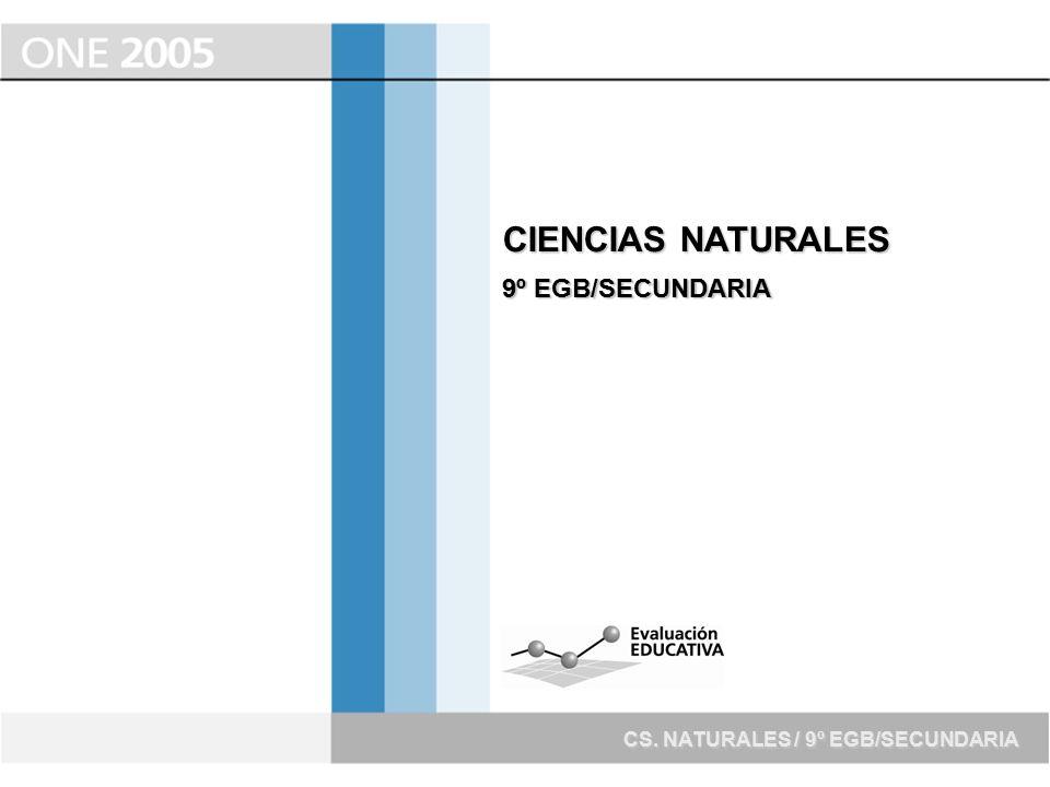 CIENCIAS NATURALES 9º EGB/SECUNDARIA CS. NATURALES / 9º EGB/SECUNDARIA