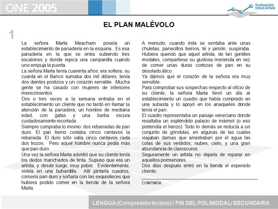 EL PLAN MALÉVOLO 1.