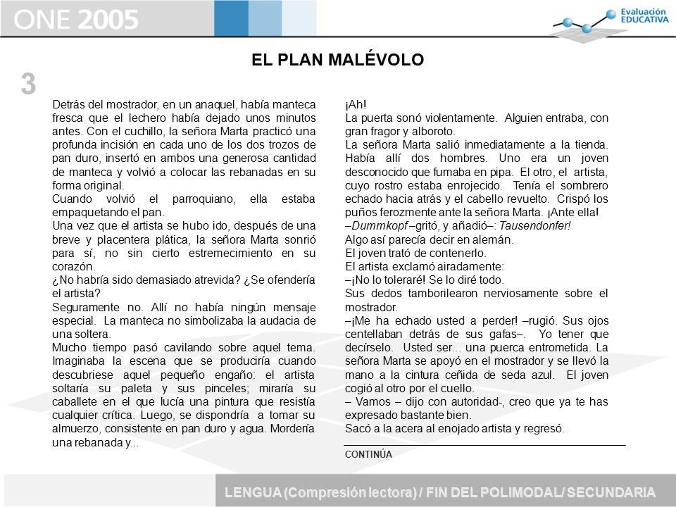 EL PLAN MALÉVOLO 3.