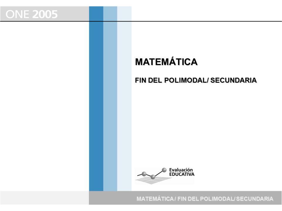 MATEMÁTICA FIN DEL POLIMODAL/ SECUNDARIA