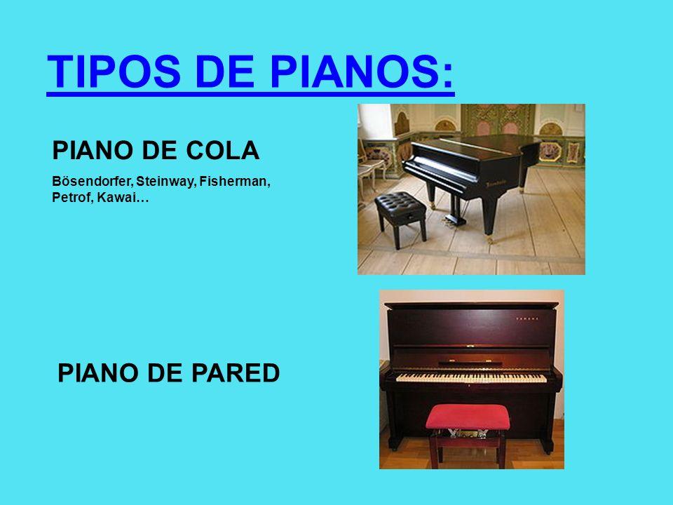 TIPOS DE PIANOS: PIANO DE COLA PIANO DE PARED