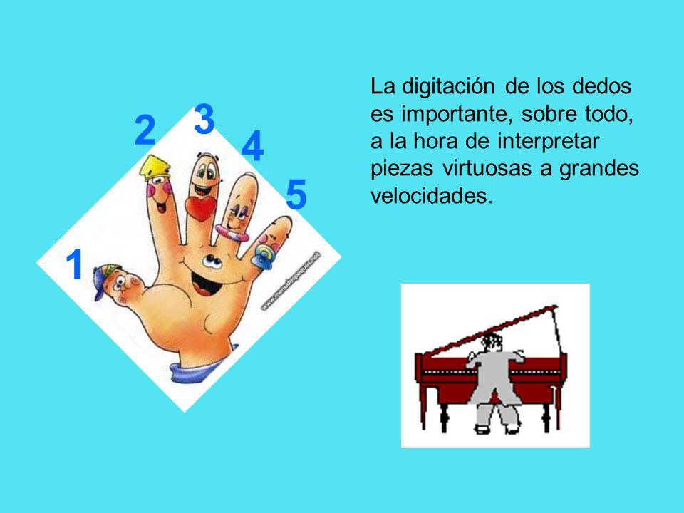 La digitación de los dedos es importante, sobre todo, a la hora de interpretar piezas virtuosas a grandes velocidades.