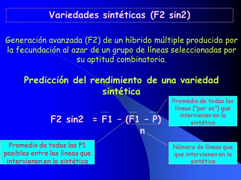 Variedades sintéticas (F2 sin2)