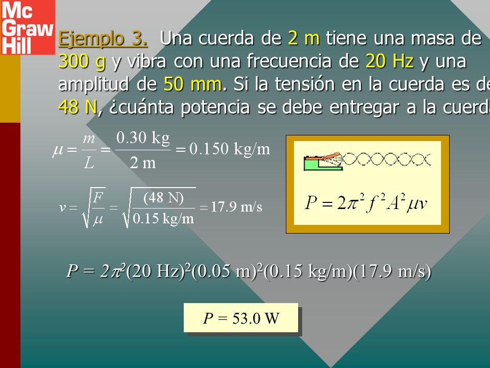 P = 22(20 Hz)2(0.05 m)2(0.15 kg/m)(17.9 m/s)