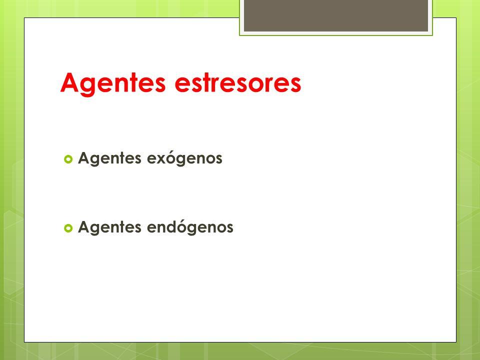 Agentes estresores Agentes exógenos Agentes endógenos