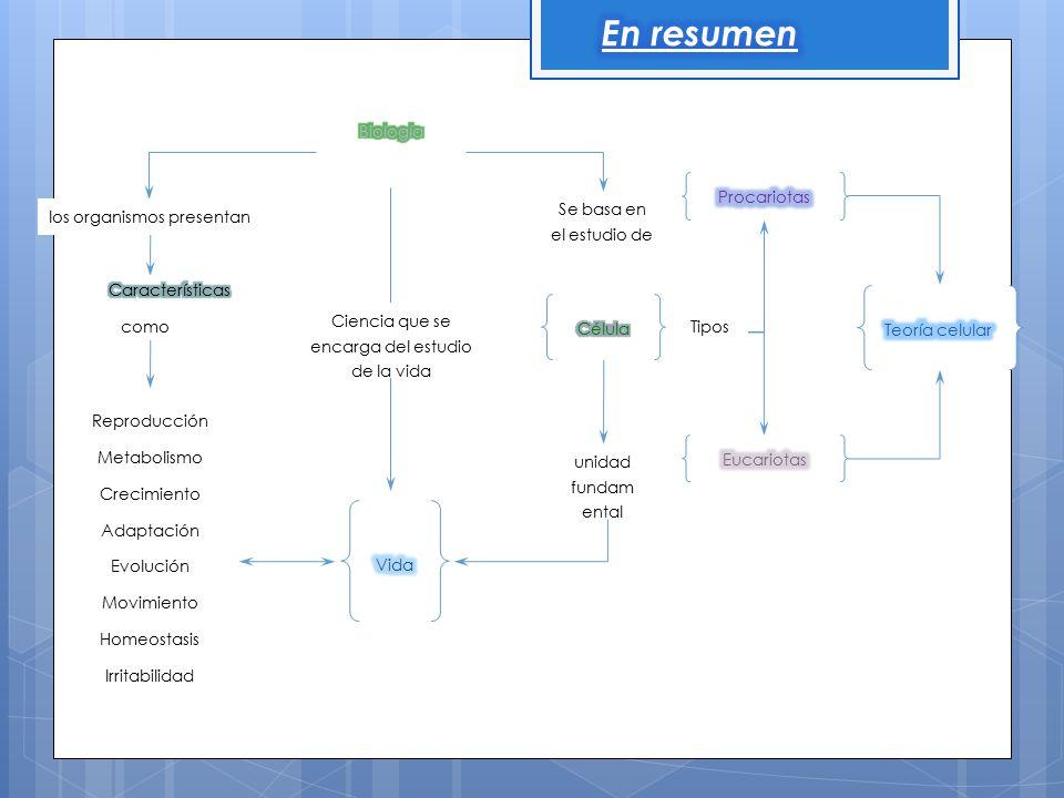 En resumen Biología Procariotas Se basa en el estudio de