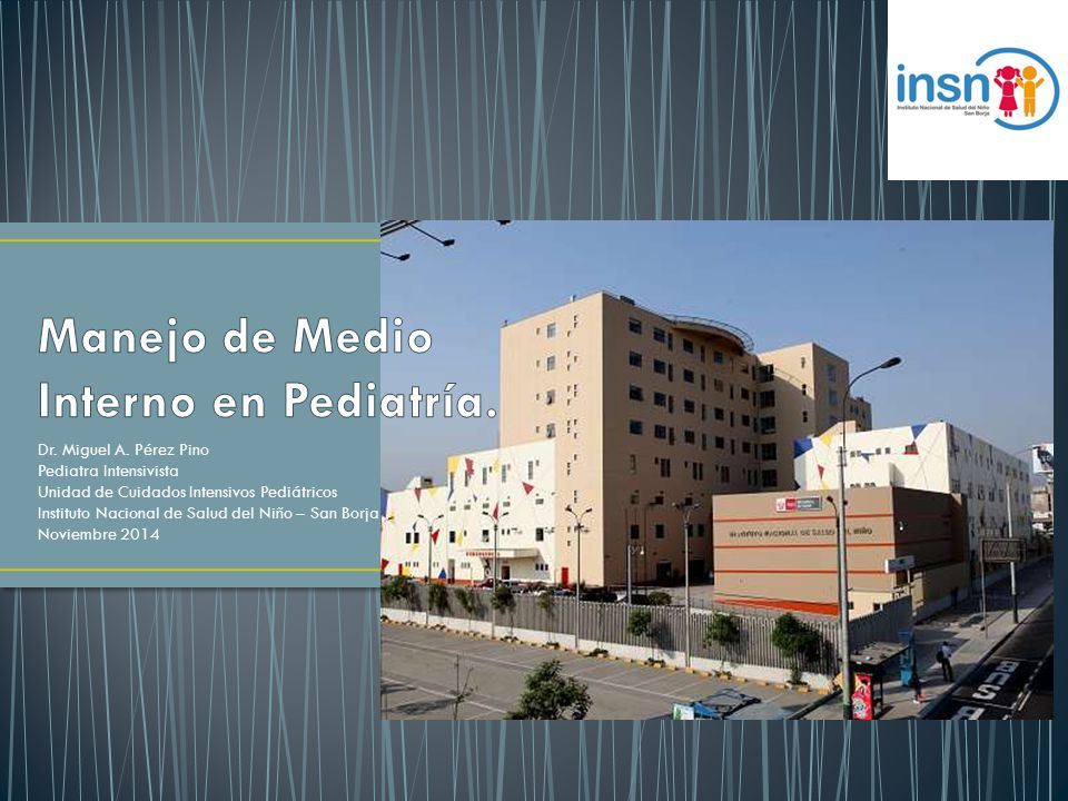 Manejo de Medio Interno en Pediatría.