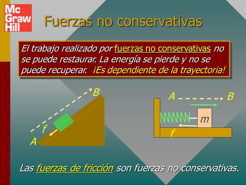 Fuerzas no conservativas