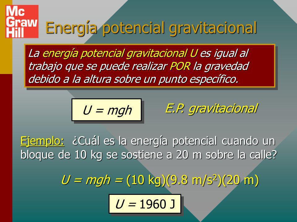Energía potencial gravitacional