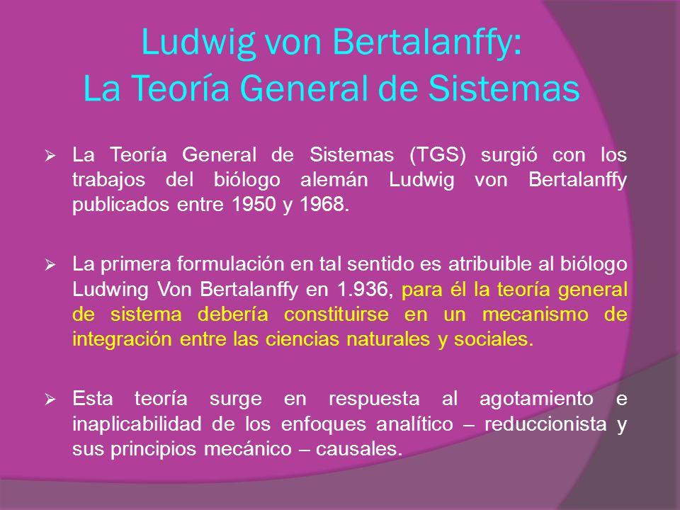 Ludwig von Bertalanffy: La Teoría General de Sistemas