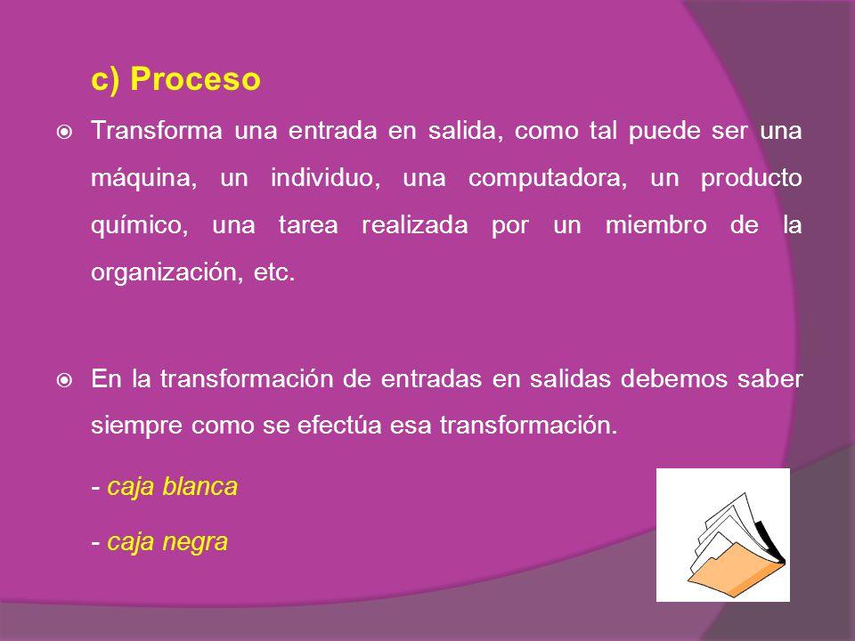 c) Proceso - caja blanca