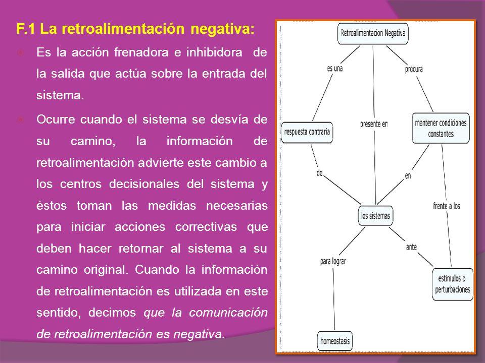 F.1 La retroalimentación negativa:
