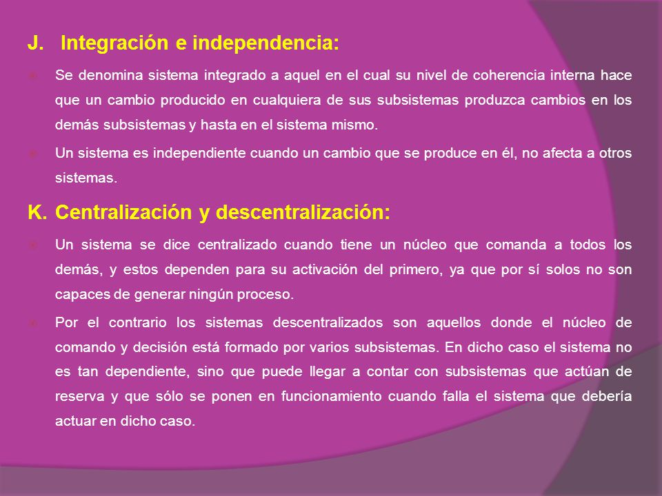 J. Integración e independencia: