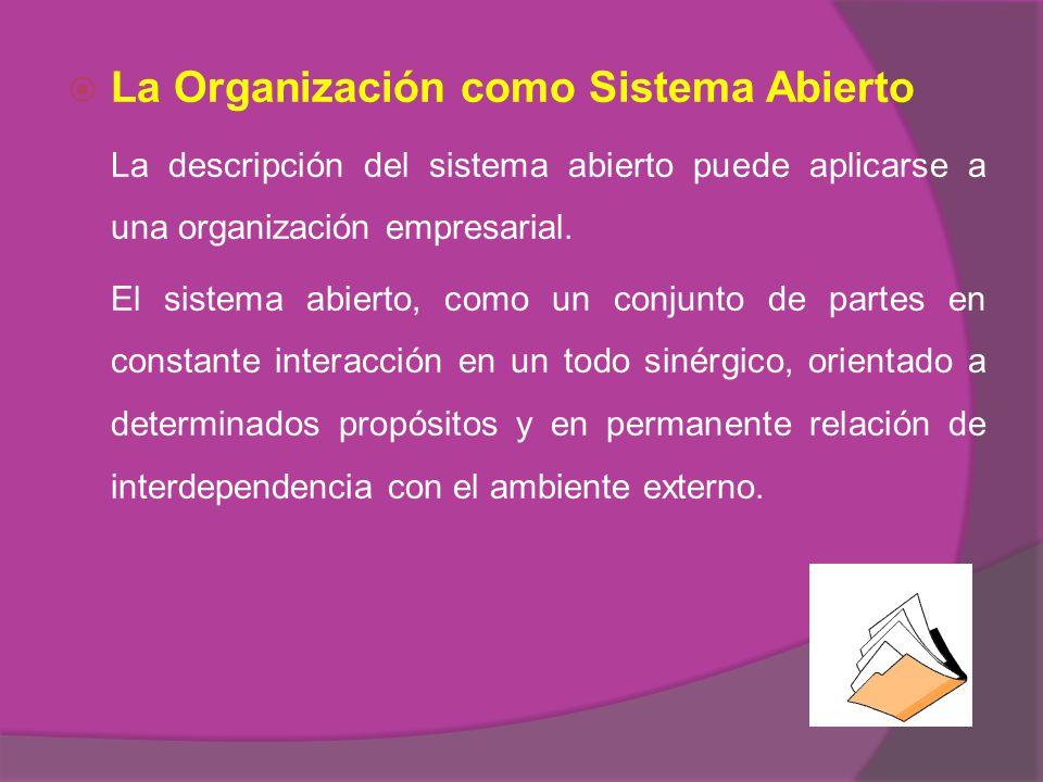 La Organización como Sistema Abierto