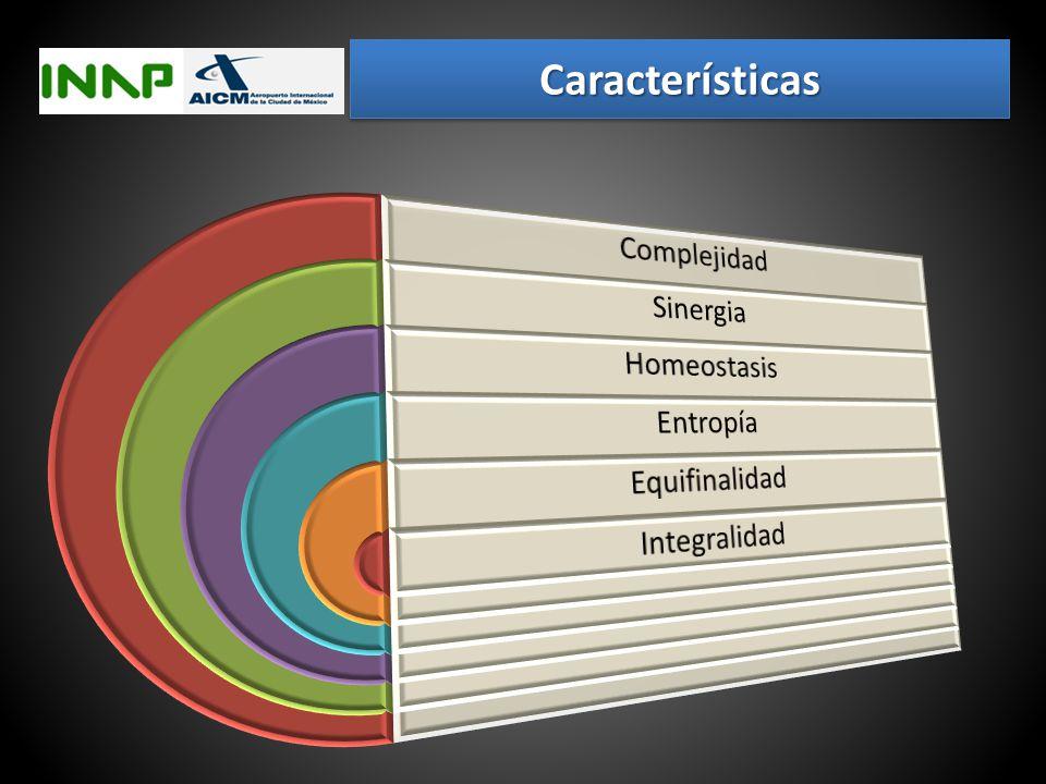Características Complejidad Sinergia Homeostasis Entropía