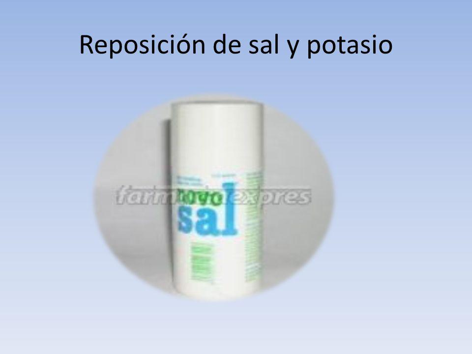 Reposición de sal y potasio