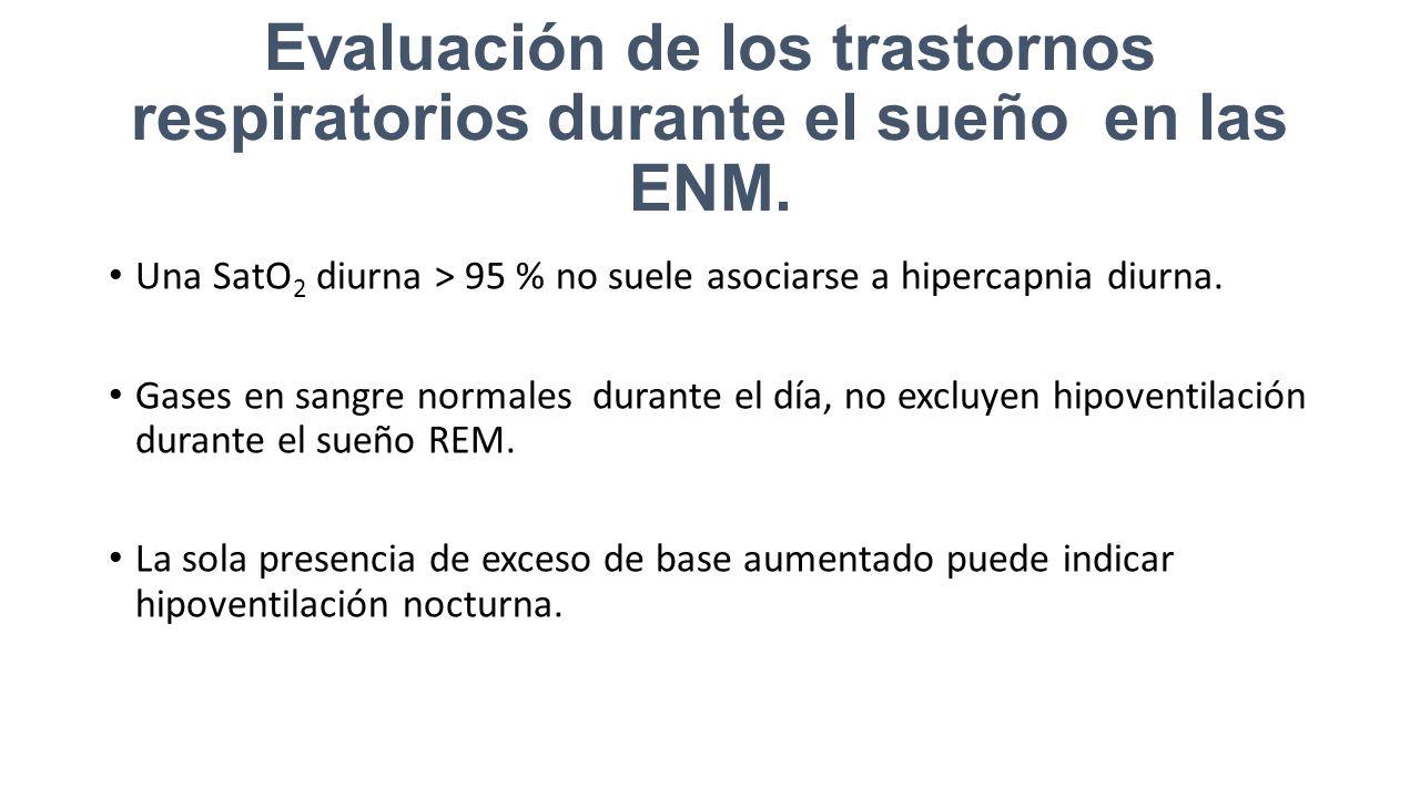 Evaluación de los trastornos respiratorios durante el sueño en las ENM.
