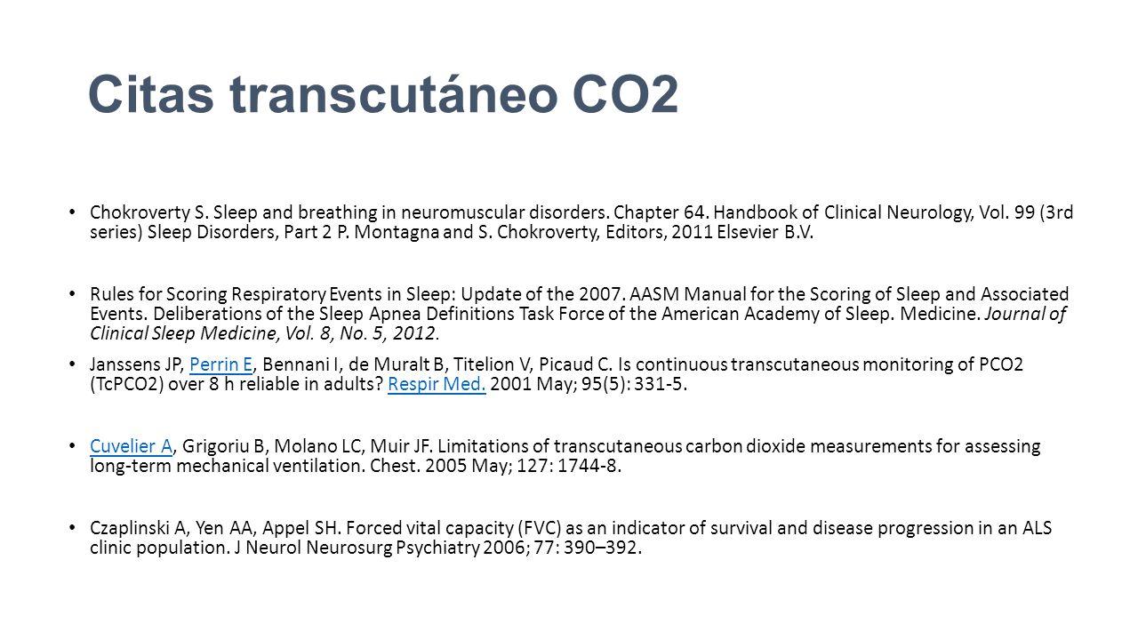 Citas transcutáneo CO2