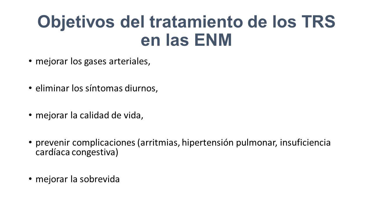 Objetivos del tratamiento de los TRS en las ENM